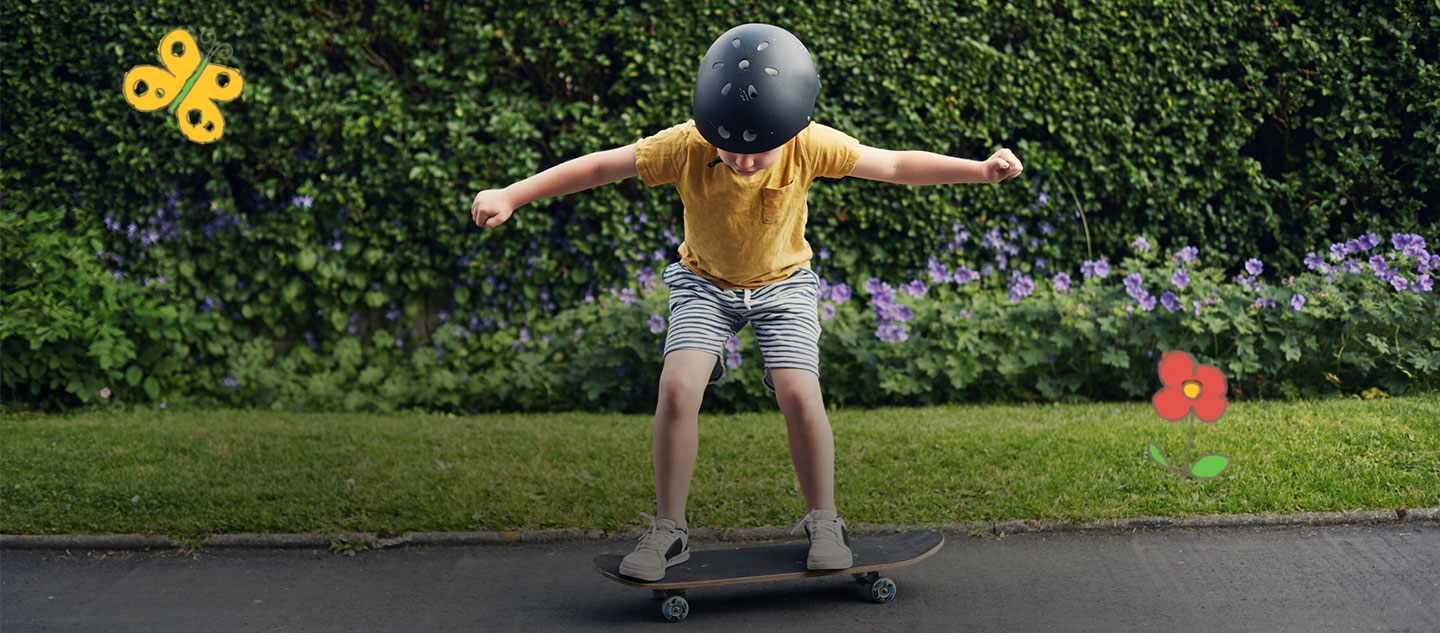 Safety is important when doing all activities, including skateboarding like this little girl.