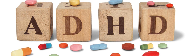ADHD on wooden blocks