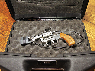 Revolver in lock case