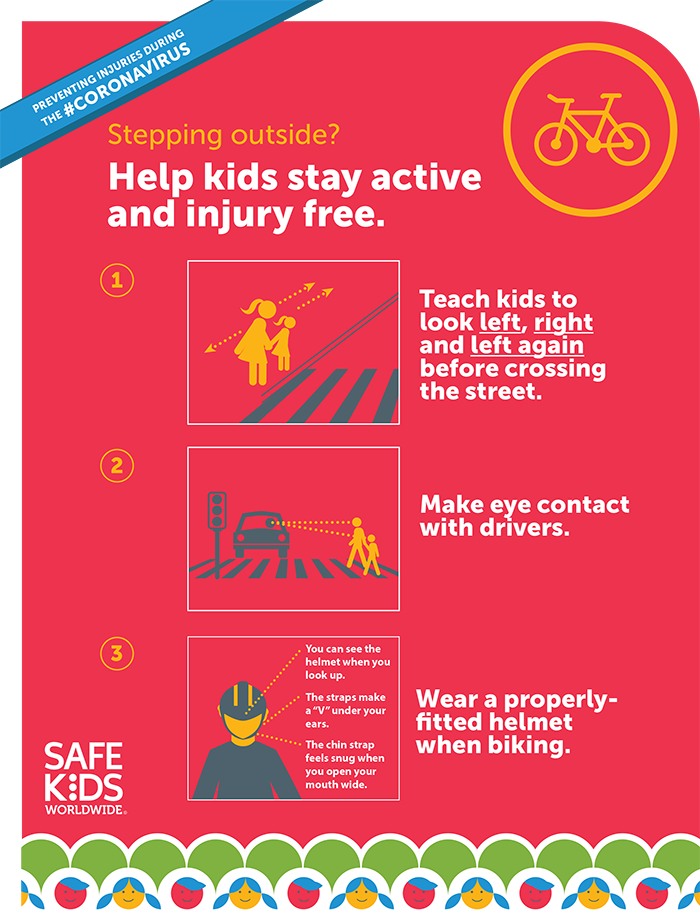 pedestrian and bike safety infographic