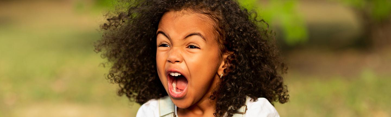 little girl screaming