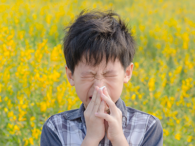 Little boy with allergies