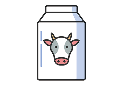 illustration of milk bottle