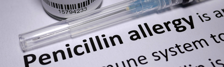 penicillin bottle and needle